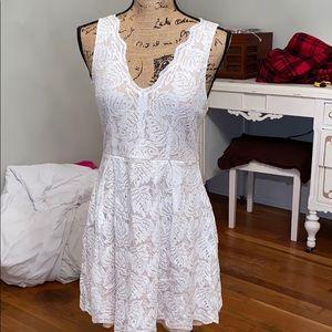 Sweet white and cream dress